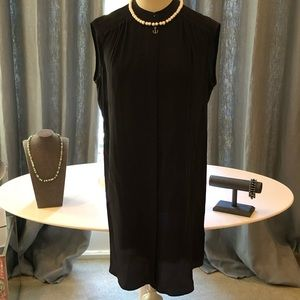 Woman's All Saints black silk dress/tunic: US 6
